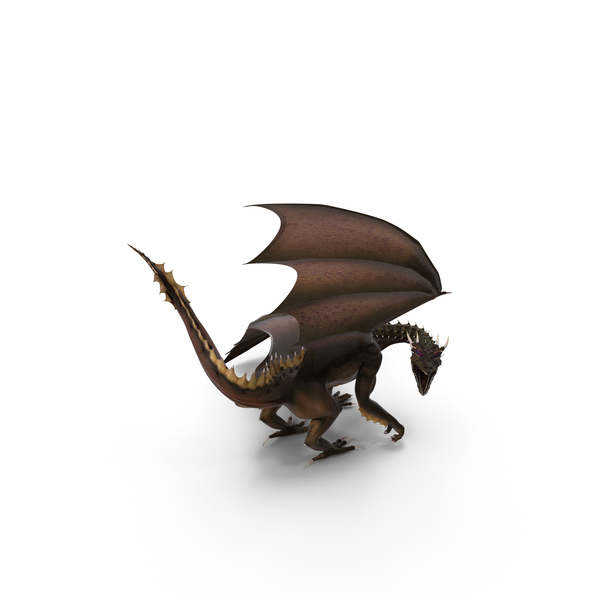 Dragon Looking Backwards PNG & PSD Images