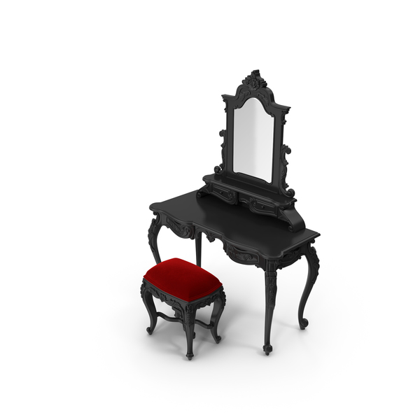 Dressing Table & Pouf Set by Fabulous & Baroque PNG & PSD Images