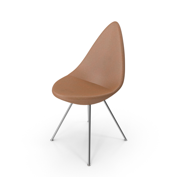 Drop Chair Leather Walnut PNG & PSD Images