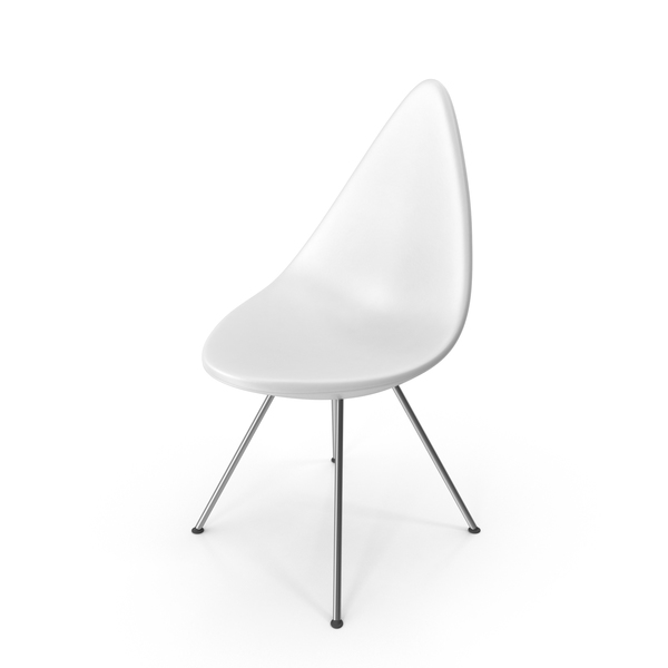 Drop Chair Plastic White PNG & PSD Images