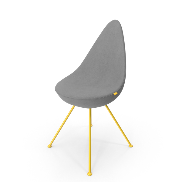 Drop Shaped Chair Velvet PNG & PSD Images