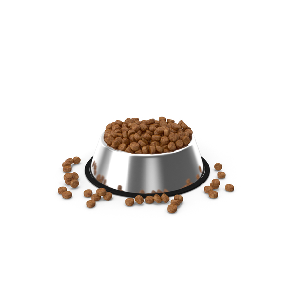 Dry Dog Food Stainless Steel Bowl PNG & PSD Images