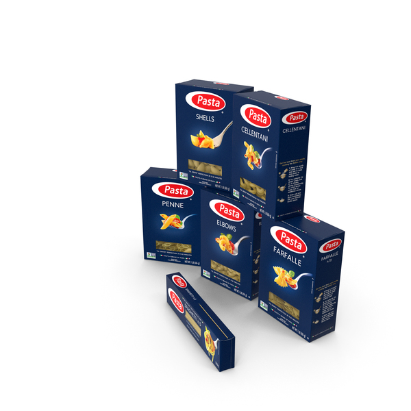 Dry Pasta Boxes Set PNG & PSD Images