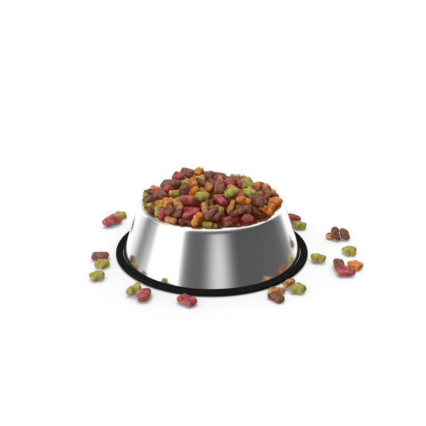 Dry Pet Food Stainless Steel Bowl PNG & PSD Images