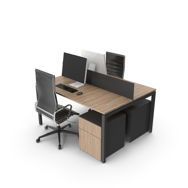 Dual Desk Unit PNG & PSD Images