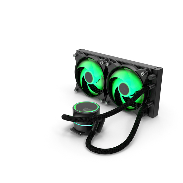 Dual Fan CPU RGB Liquid Cooler PNG & PSD Images
