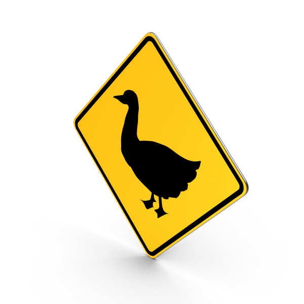 Traffic Signs: Duck Crossing Road Sign PNG & PSD Images