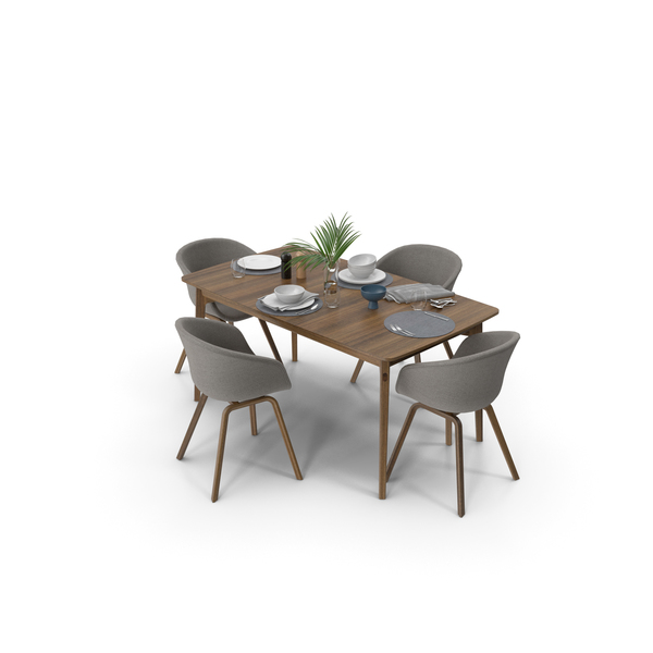 Dining Room Set: Dulwich Extension Table PNG & PSD Images