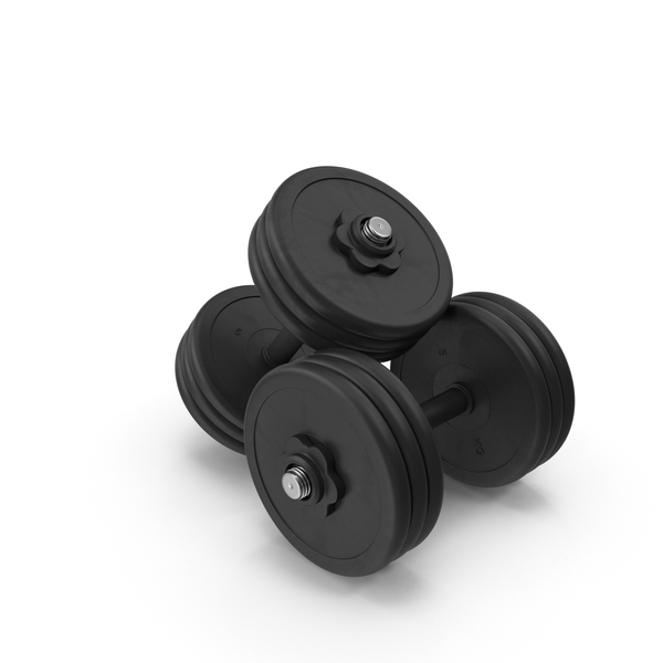 Dumbbell 2x 30kg Black PNG & PSD Images