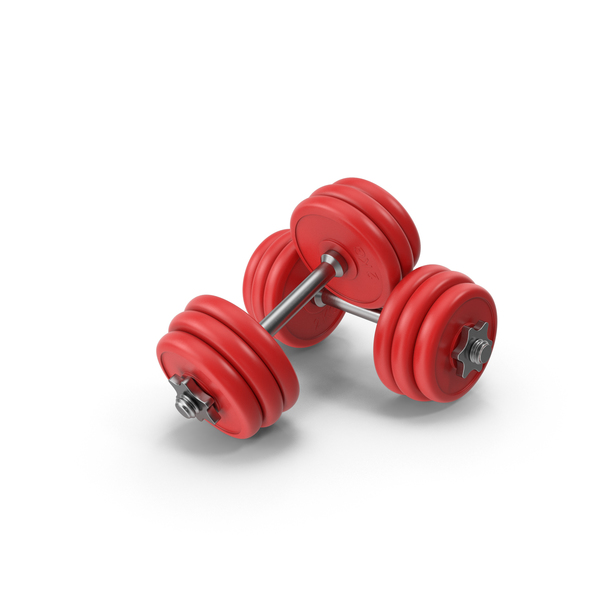 Dumbbells Red PNG & PSD Images