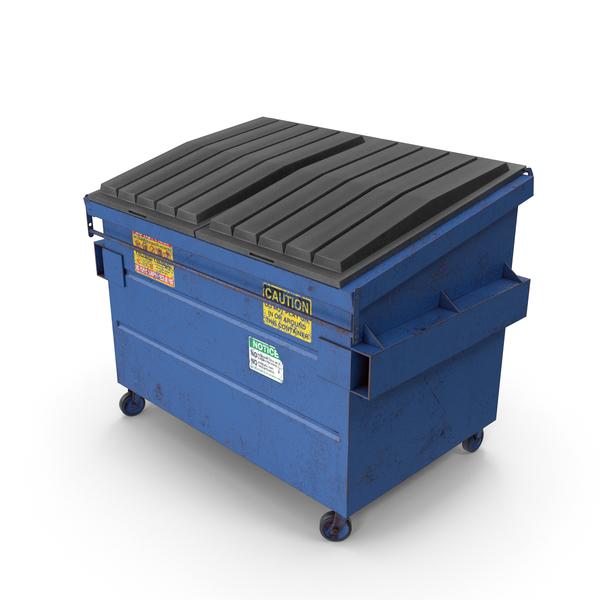 Dumpster Blue PNG & PSD Images