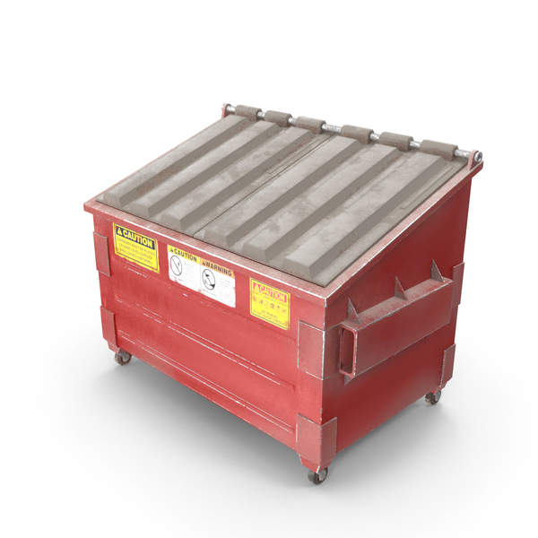 Dumpster Red PNG & PSD Images