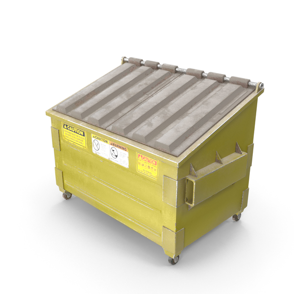 Dumpster Yellow PNG & PSD Images
