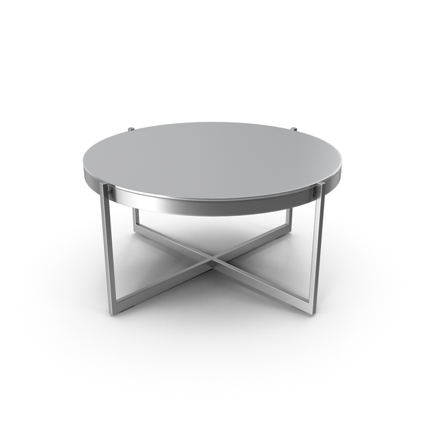 Dune Round Coffee Table with Charcoal Painted Glass PNG & PSD Images