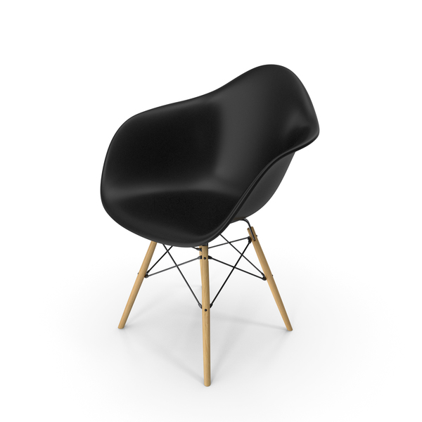Eames Modern Armchair Black PNG & PSD Images
