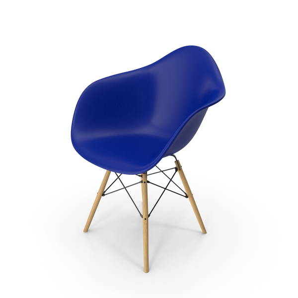 Eames Modern Armchair Blue PNG & PSD Images