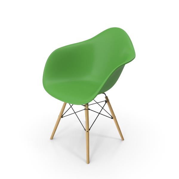 Eames Modern Armchair Green PNG & PSD Images