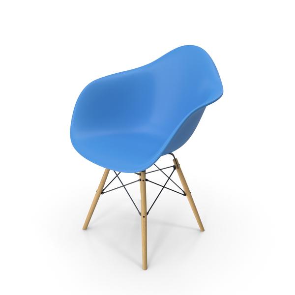 Eames Modern Armchair Light Blue PNG & PSD Images