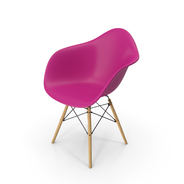 Eames Modern Armchair Purple PNG & PSD Images