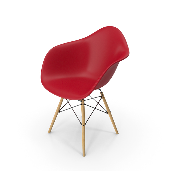 Eames Modern Armchair Red PNG & PSD Images