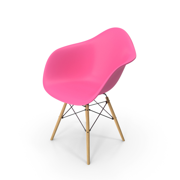 Arm Chair: Eames Modern Armchair Violet PNG & PSD Images