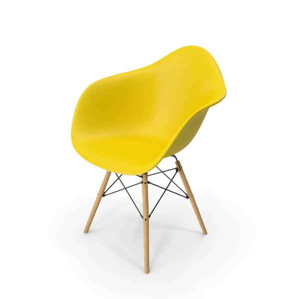 Eames Modern Armchair Yellow PNG & PSD Images