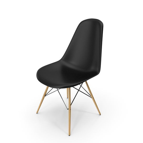 Eames Modern Chair Black PNG & PSD Images