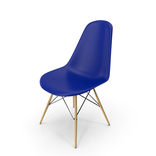 Eames Modern Chair Blue PNG & PSD Images