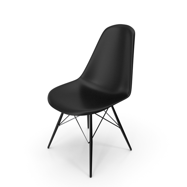 Eames Modern Chair Full Black PNG & PSD Images