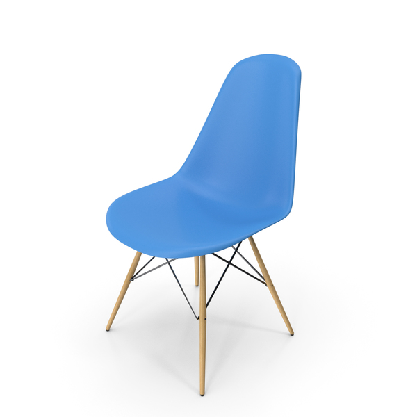 Eames Modern Chair Light Blue PNG & PSD Images