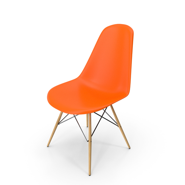 Eames Modern Chair Orange PNG & PSD Images