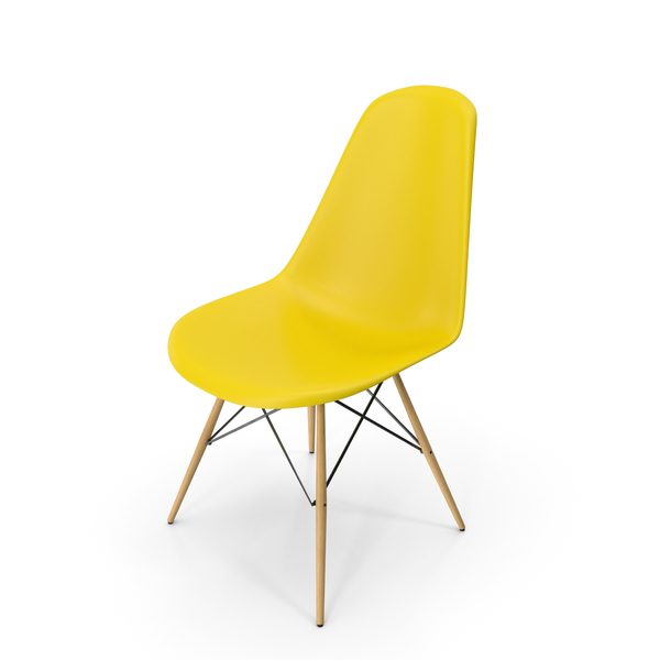 Eames Modern Chair Yellow PNG & PSD Images