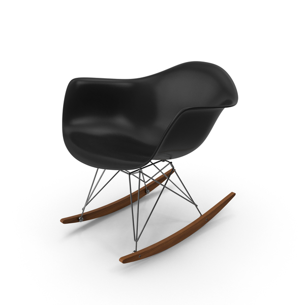 Eames Rocking Chair Black PNG & PSD Images