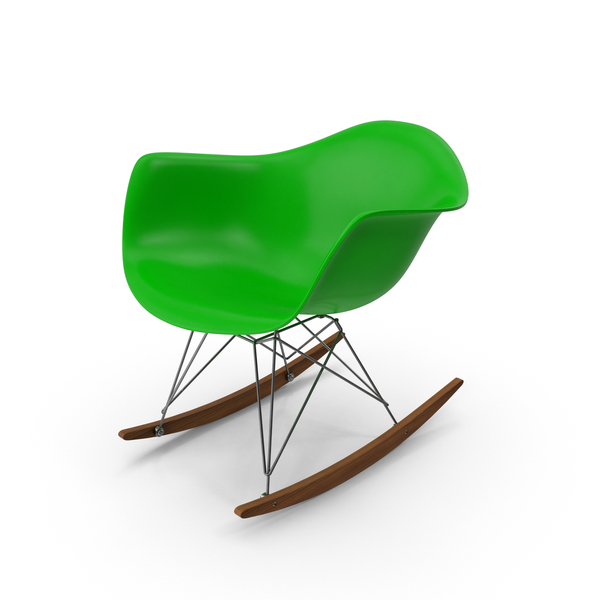 Eames Rocking Chair Green PNG & PSD Images