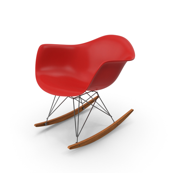 Eames Rocking Chair Red PNG & PSD Images