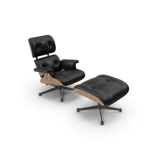Eames Vitra Lounge Chair Oak Black PNG & PSD Images