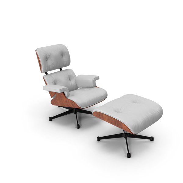 Eames Vitra Lounge Chair White PNG & PSD Images