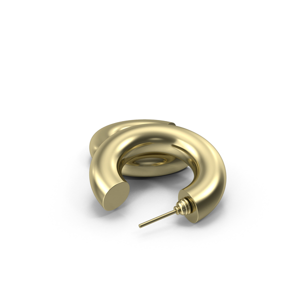 Earrings Gold Hoops PNG & PSD Images