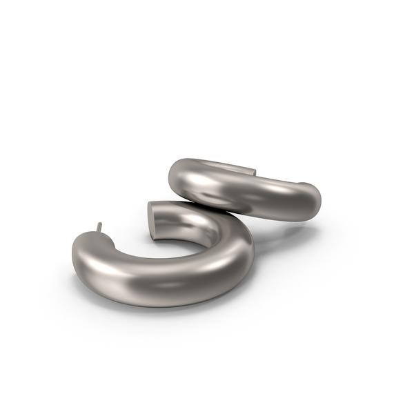 Earrings Silver Hoops PNG & PSD Images