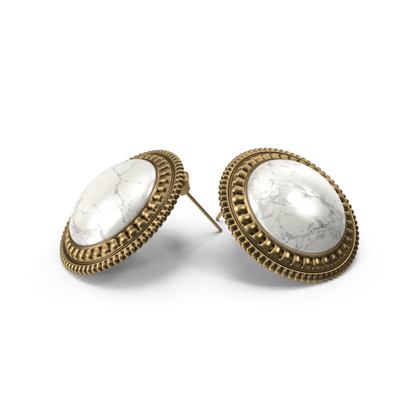 Earrings with Marble PNG & PSD Images