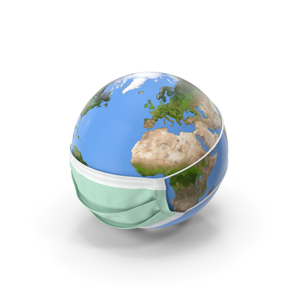 Earth Stylized with Mask PNG & PSD Images