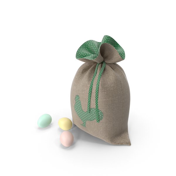 Easter Bag Green PNG & PSD Images