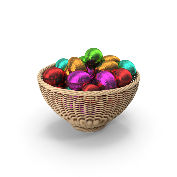 Easter Egg Basket PNG & PSD Images