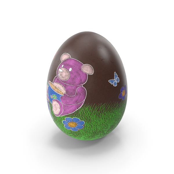 Easter Egg Chocolate Teddy Bear Painted PNG & PSD Images