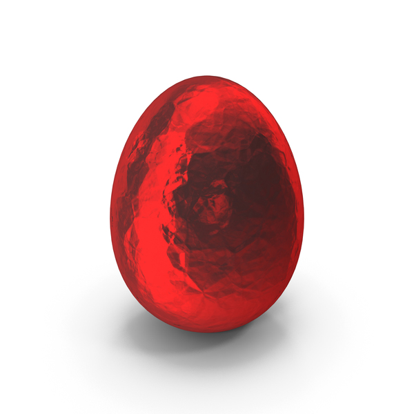 Easter Egg Red Foil PNG & PSD Images