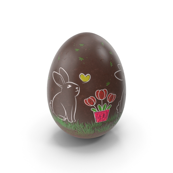 Easter Egg with Bunny PNG & PSD Images
