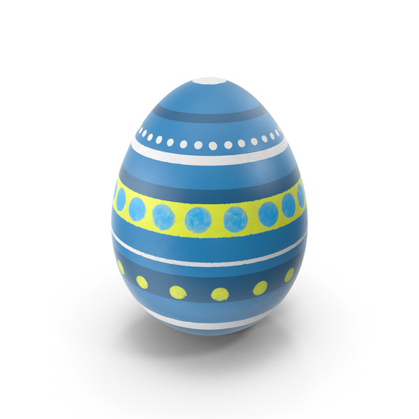 Easter Egg with Stripes PNG & PSD Images