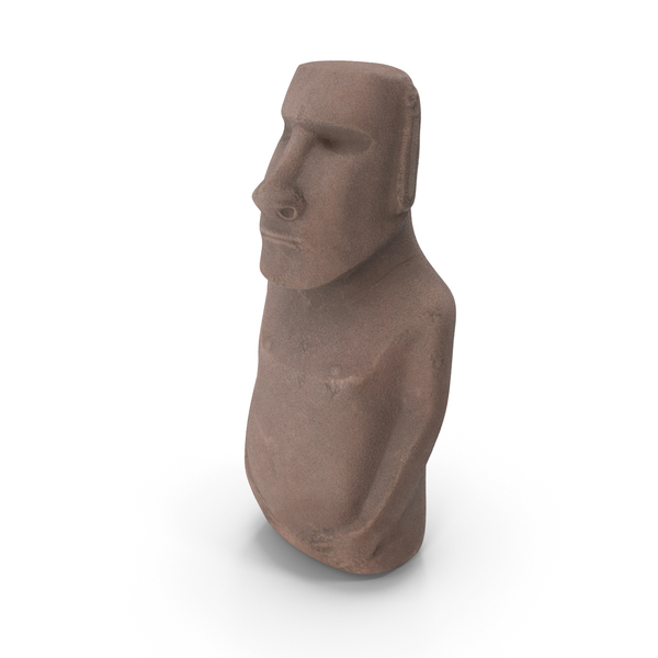Sculpture: Easter Island Statue Moai PNG & PSD Images