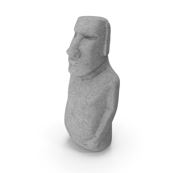 Easter Island Statue Moai White PNG & PSD Images
