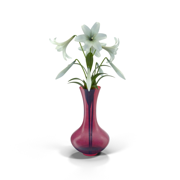 Easter Lilly in Purple Vase Object